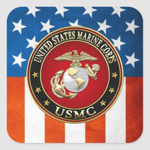 USMC EGA [Special Edition] [3D] Square Stickers