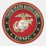 USMC EGA [Special Edition] [3D] Classic Round Sticker