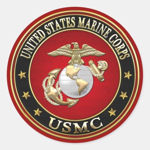 USMC EGA [Special Edition] [3D] Round Sticker