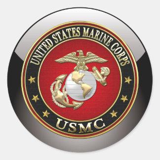 USMC EGA [Special Edition] [3D] Round Stickers