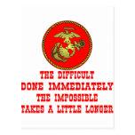 USMC el difícil hecho inmediatamente el imposible Tarjetas Postales