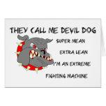 USMC él me llama perro de diablo Felicitaciones
