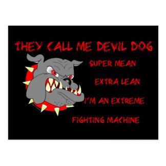 USMC él me llama perro de diablo Postal