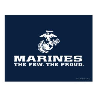 USMC el pocos el logotipo orgulloso apilado - blan Tarjeta Postal