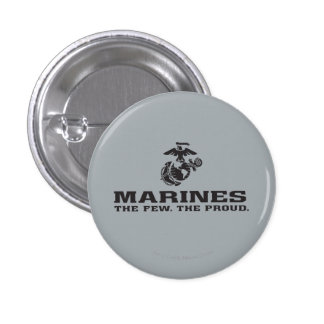 USMC el pocos el logotipo orgulloso apilado - negr Pin