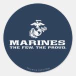USMC el pocos el logotipo orgulloso apilado - Pegatinas Redondas