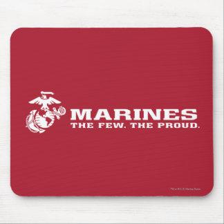 USMC el pocos el logotipo orgulloso - blanco Tapetes De Ratones