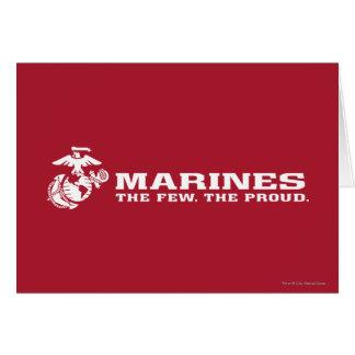 USMC el pocos el logotipo orgulloso - blanco Tarjeta De Felicitación