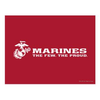USMC el pocos el logotipo orgulloso - blanco Tarjetas Postales