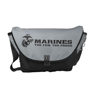 USMC el pocos el logotipo orgulloso - negro Bolsa De Mensajería