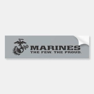 USMC el pocos el logotipo orgulloso - negro Etiqueta De Parachoque