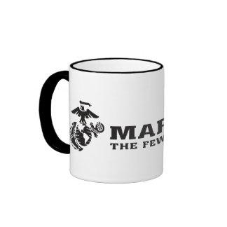 USMC el pocos el logotipo orgulloso - negro Taza De Dos Colores