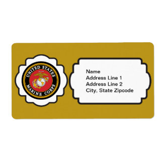 USMC Emblem Label