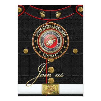 USMC Emblem [Special Edition] [3D] 5x7 Paper Invitation Card
