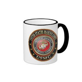 USMC Emblem [Special Edition] [3D] Ringer Coffee Mug