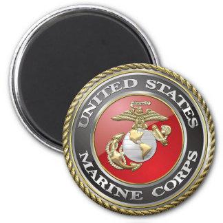 USMC Emblem & Uniform [3D] 2 Inch Round Magnet