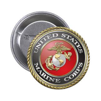 USMC Emblem & Uniform [3D] 2 Inch Round Button