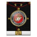 USMC Emblem & Uniform [3D] Greeting Card