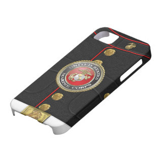 USMC Emblem & Uniform [3D] iPhone SE/5/5s Case