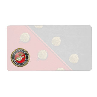 USMC Emblem & Uniform [3D] Shipping Label