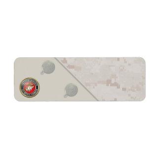 USMC Emblem & Uniform [3D] Custom Return Address Label
