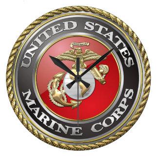 USMC Emblem & Uniform [3D] Large Clock