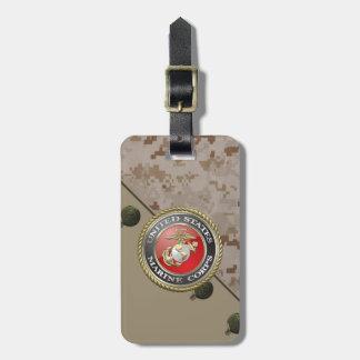 USMC Emblem & Uniform [3D] Luggage Tags