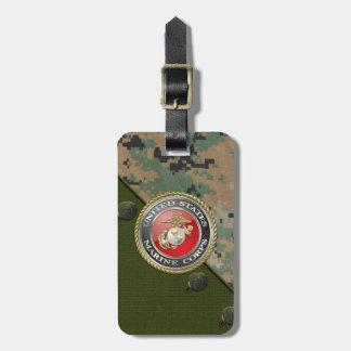 USMC Emblem & Uniform [3D] Travel Bag Tag