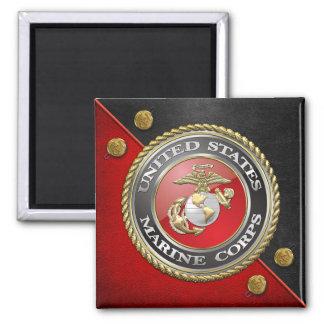USMC Emblem & Uniform [3D] Refrigerator Magnet