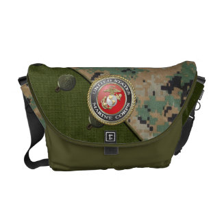 USMC Emblem & Uniform [3D] Messenger Bags