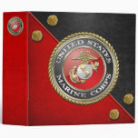 USMC Emblem & Uniform [3D] Vinyl Binders