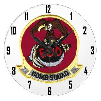 USMC EOD BOMB SQUAD WALL CLOCKS