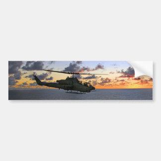 USMC estupendo de la cobra de AH-1W Etiqueta De Parachoque