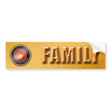 USMC Family Bumper Sticker