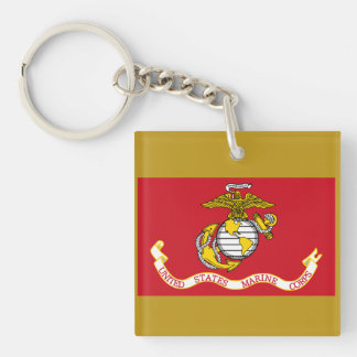 USMC Flag Keychain