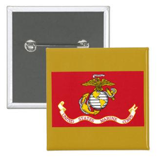 USMC Flag Pinback Button