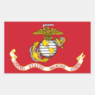 USMC Flag Rectangle Stickers
