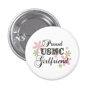USMC Girlfriend [fl camo] 1 Inch Round Button