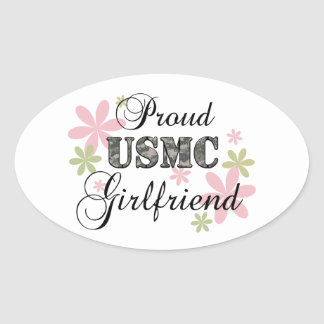 USMC Girlfriend [fl camo] Oval Sticker