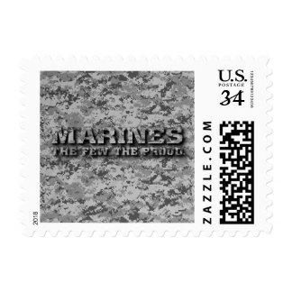 USMC - Grey Digital Camo - The few the proud Stamp