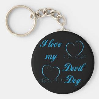 USMC I Love My Devil Dog Keychain
