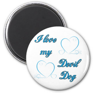 USMC I Love My Devil Dog Magnet