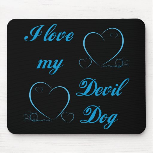 USMC I Love My Devil Dog Mouse Pad
