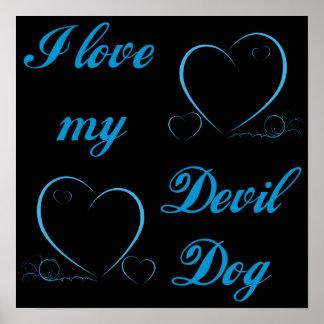 USMC I Love My Devil Dog Poster