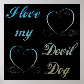 USMC I Love My Devil Dog Print