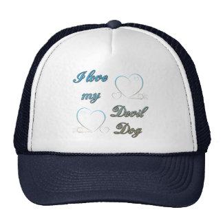 USMC I Love My Devil Dog Trucker Hat