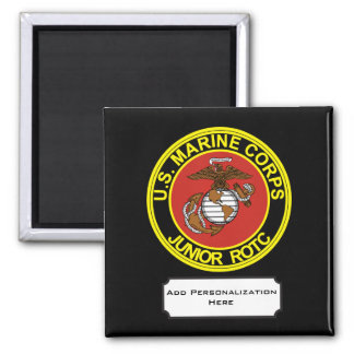 USMC Junior Reserve Officers' Training Corps 2 Inch Square Magnet