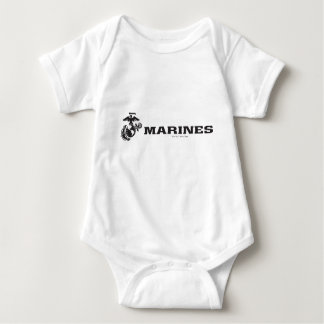 USMC Logo - Black Baby Bodysuit