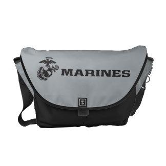 USMC Logo - Black Courier Bag