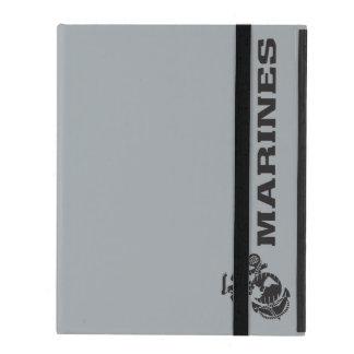 USMC Logo - Black iPad Folio Case